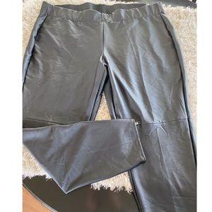 NWT Lane Bryant Black Faux Leather Legging Pants
